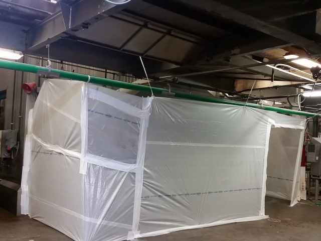 Temporary Enclosures For Construction : Dust enclosure temporary protection systems sealwrap