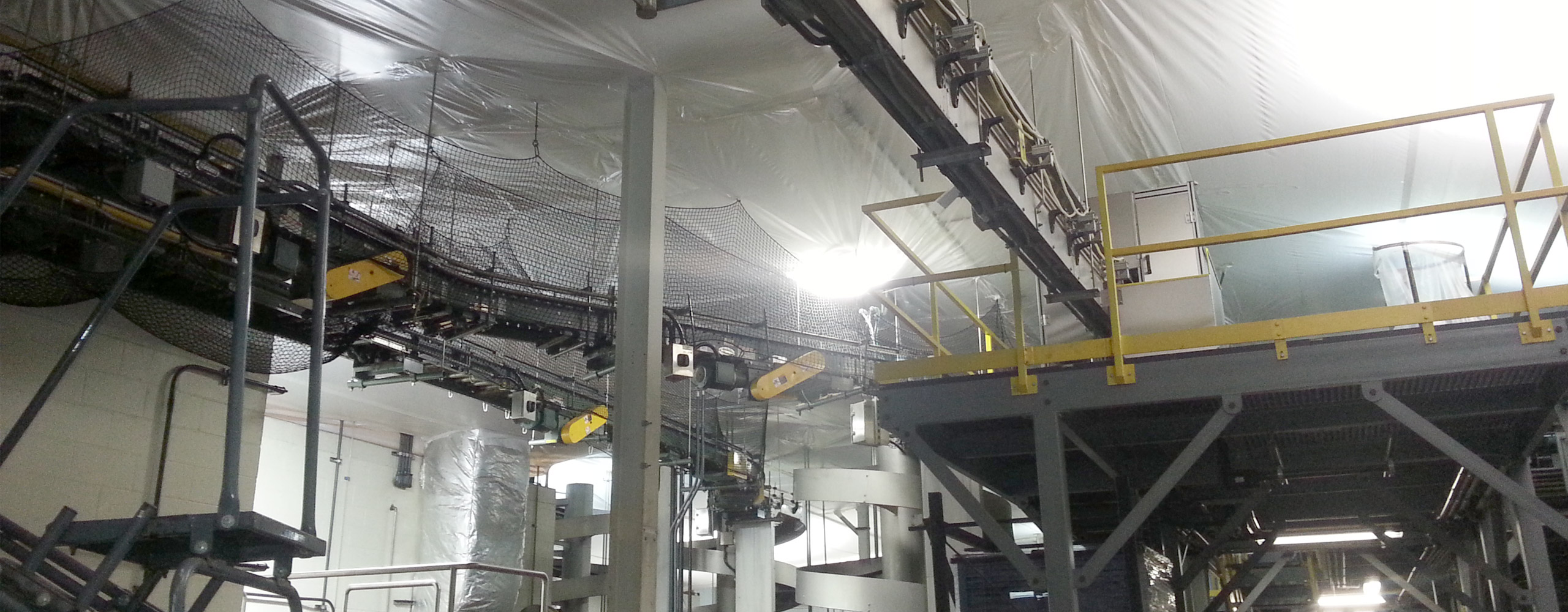 dust and debris containment for factory during renovations