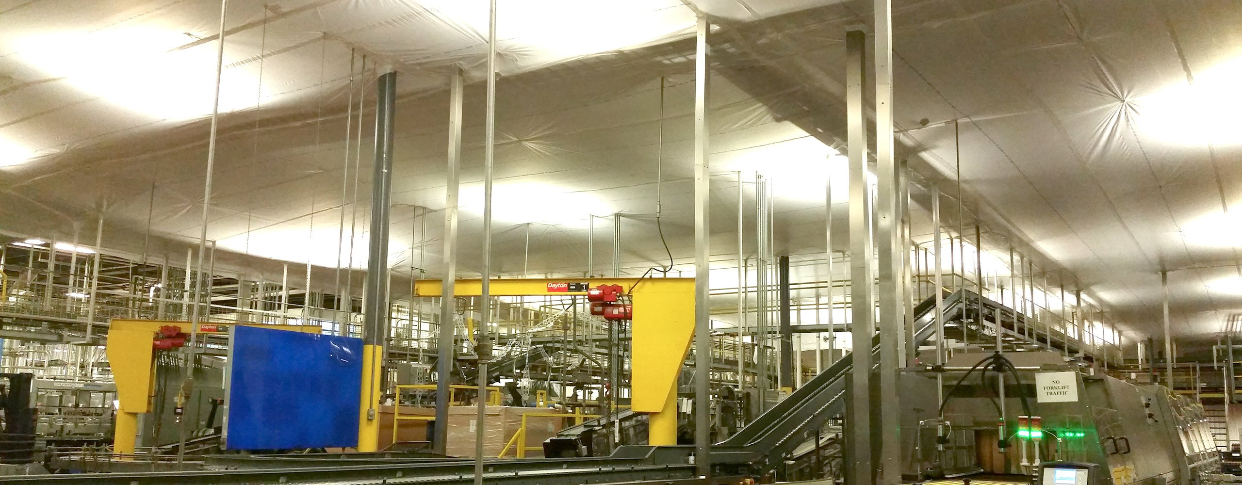 factory with interior protection system installed