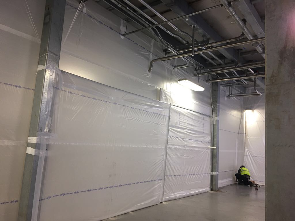 Temporary Interior Wall Protection System Sealwrap Inc
